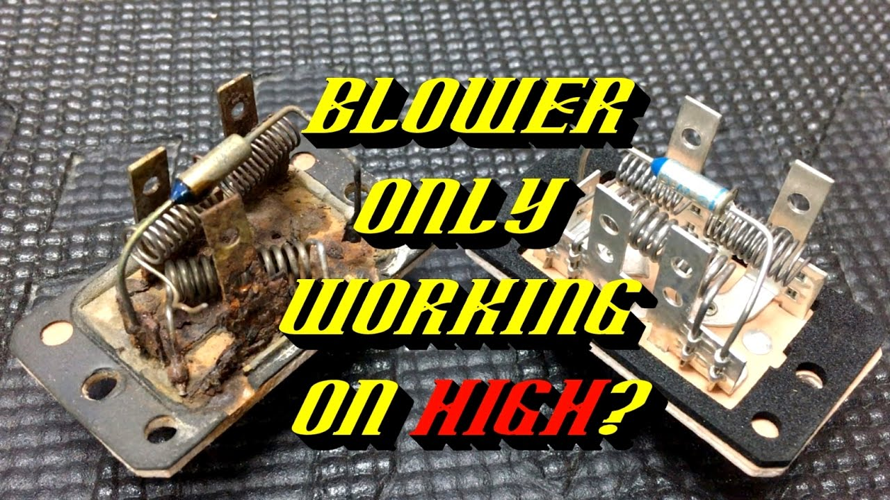 hight resolution of ford quick tips 68 blower motor resistor failures testing and inspection