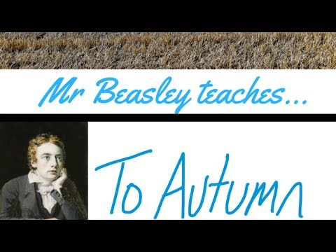 Analysis of To Autumn by John Keats