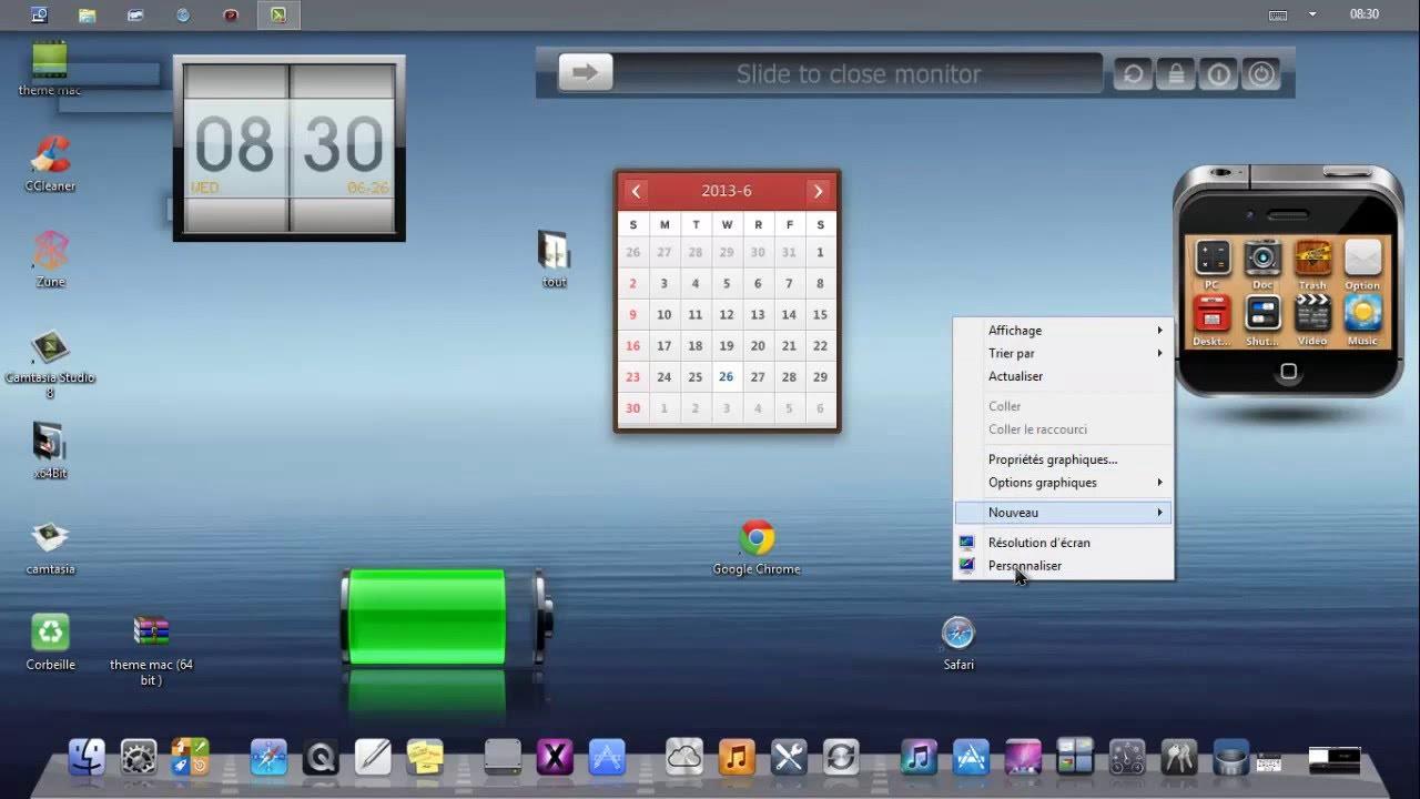 thème mac pour windows 8 - YouTube
