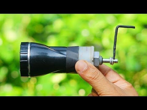 How to Make Hand Powered Torch Light / Emergency light