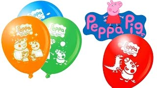 🎈Play and Learn Colours With Peppa Pig Balloons Show Colors for Children to Learn Baby Learn Colors