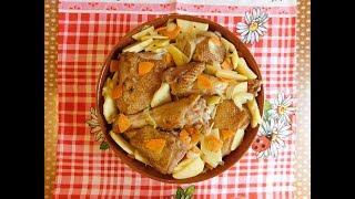 Утка с овощами в таджине  Рецепт