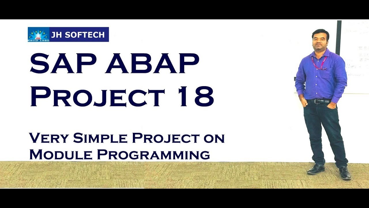 SAP ABAP Project 18 Module Pool Prog for Beginners