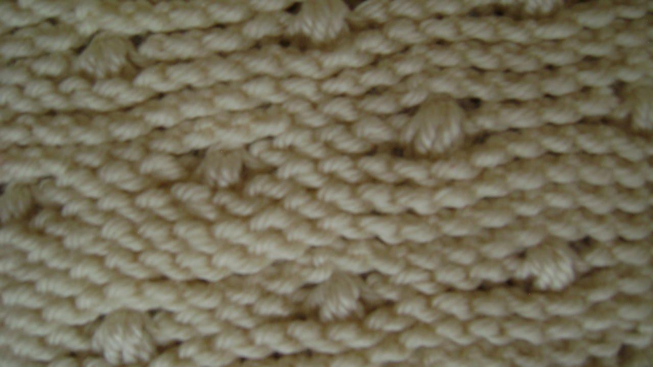 Afghan Tunisian Knit Stitch & Puff - YouTube