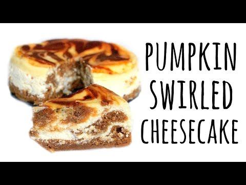 How to Make Pumpkin Swirl Cheesecake | ASMR