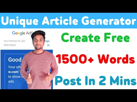 Best Free Unique Article Generator 2021 | Create 1500+ Words Article In Just 5 Minutes | Ft Thoughts