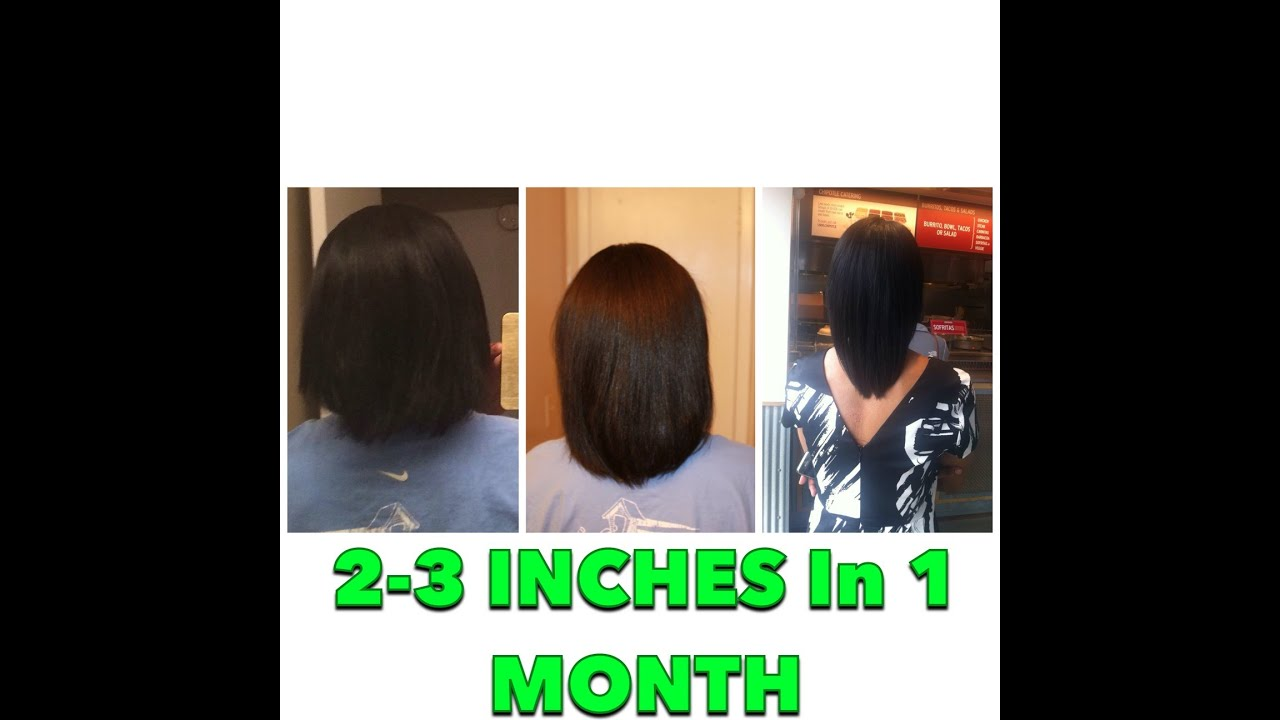 2-3 Inches Hair Growth In 1 MONTH - YouTube