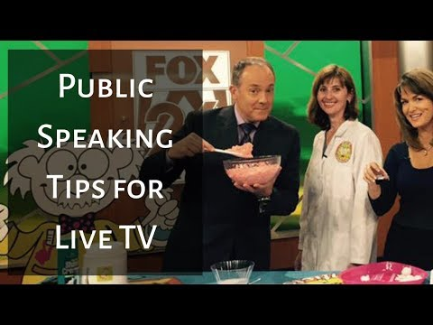 Public Speaking Tips for Live TV