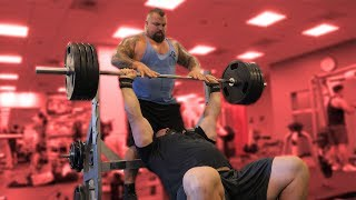 BENCH PRESSING WITH EDDIE HALL