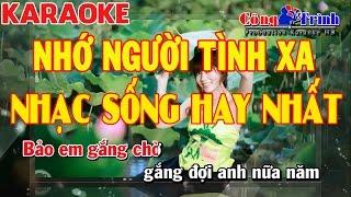 Karaoke Nhớ Người Tình Xa - Dương Hồng Loan | Công Trình Karaoke | Karaoke Minh Kha