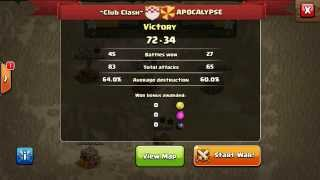 clash of clans : WAR results ~club clash vs APOCALYPSE