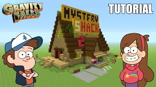 "Minecraft Tutorial: How To Make ""The Mystery Shack"" House! ""Gravity Falls"" (Survival House)"