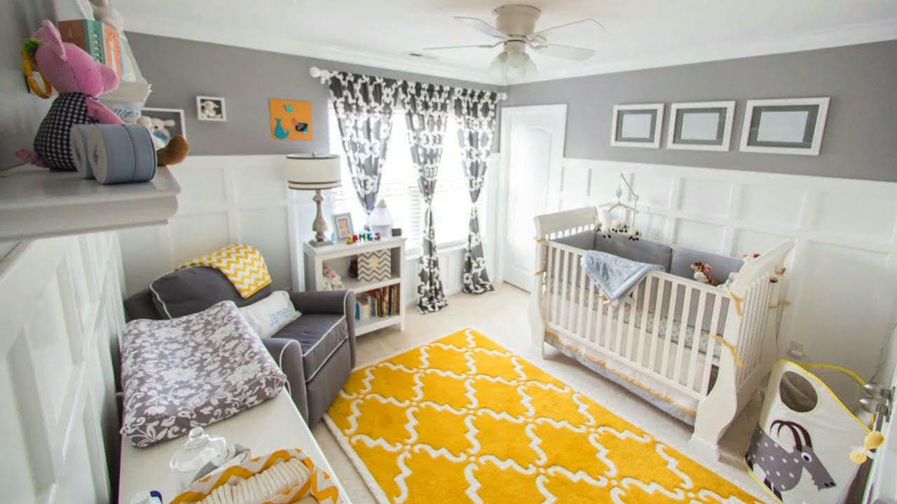 gray yellow for a gender neutral nursery youtube. Black Bedroom Furniture Sets. Home Design Ideas
