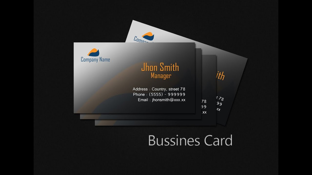 Create Business Card In Photoshop CS YouTube - Photoshop cs6 business card template