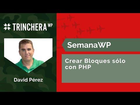 Crea Bloques sólo con PHP