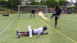 HINDERNISPARCOURS FUßBALL CHALLENGE!!!