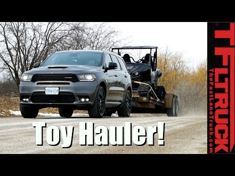 Can a New Dodge Durango V6 Handle This Towing Job? Loaded and Empty MPG Review