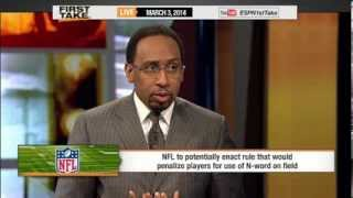 ESPN First Take's Stephen A. Smith and Skip Bayless Discusses Possible NFL Ban of the N-Word