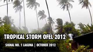 Typhoon Ofel in Nagcarlan, Laguna. ( Oct.25.2012 )