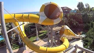 crazy cone water slide at waterpark faliraki