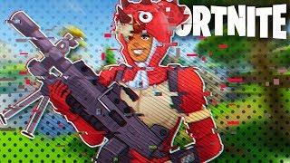 CRAZY FREEZE LAG!? NEW LMG & Tricera Ops Skin! - Fortnite Battle Royale!