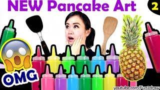 Pancake Art Challenge! | Mei Yu