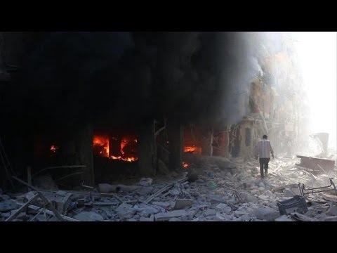 Syrian army air raids strike various targets in Aleppo