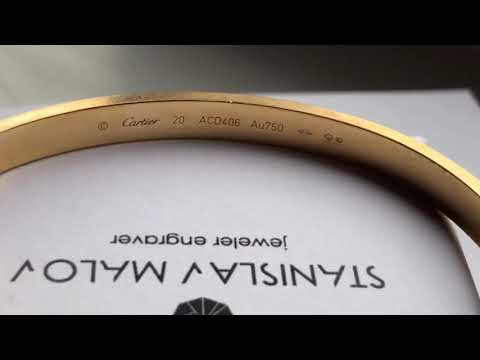 Браслет Cartier, ручная гравировка.
