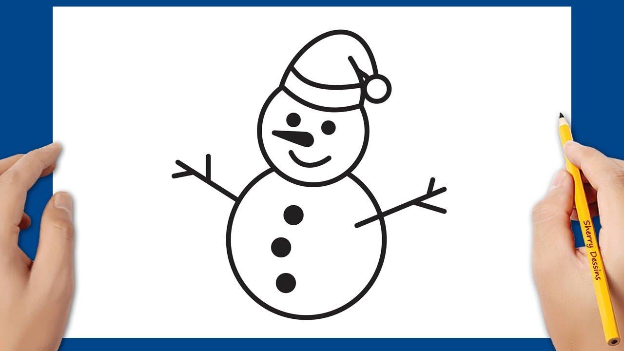 Comment Dessiner Un Bonhomme De Neige De Noel Etape Par Etape Youtube