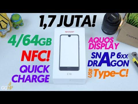 1,7-JUTA Dapet Snapdragon 6xx, NFC, 4/64GB, Type-C + Quickcharge! Unboxing Sharp Aquos C10