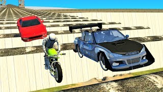 Cars Vs AIR SPEEDBUMPS BRIDGE - BeamNG Drive Crashes | CRASHdriven