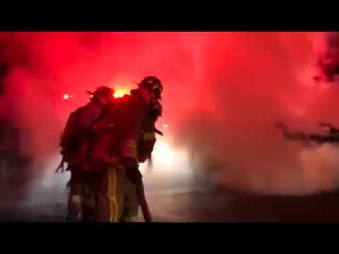 Route 6 was closed down for approximately a half hour as firefighters in Brewster battled the fire.