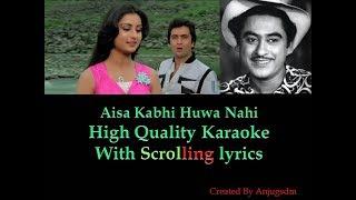 Aisa Kabhi Hua Nahi || Yeh Waada Raha 1982 || karaoke with scrolling lyrics (High Quality)
