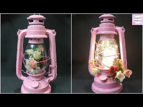 DIY Lantern / DIY Lamp /How to Recycle Old Hurricane lamp