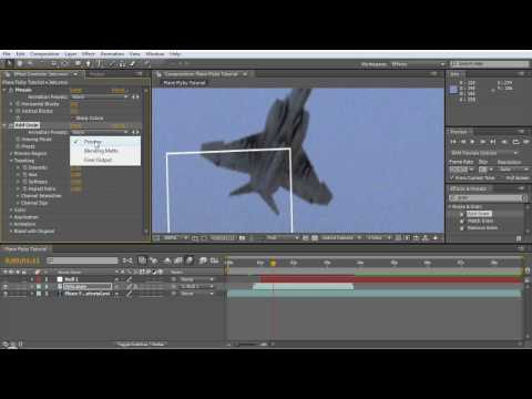 Jet Flyby Tutorial - After Effects + 3D program