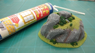 Cheap & Easy Expanding Foam Wargaming Hills & Rock Clusters