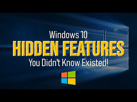 Windows 10 Hidden Features You Didn't Know Existed! 2019