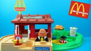 Fisher Price McDonalds drive thru playset | toy unboxing and review