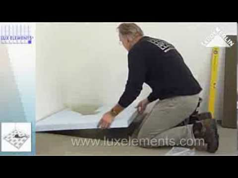 video de pose de receveur de douche carreler doovi. Black Bedroom Furniture Sets. Home Design Ideas