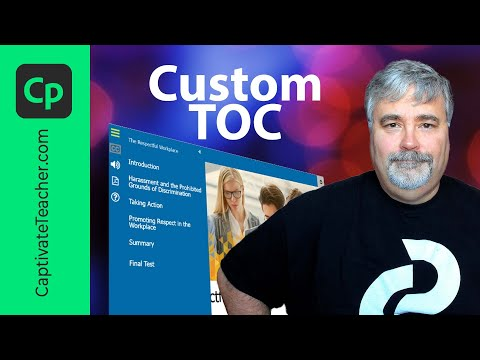 How To Build Your Own Table of Contents in Adobe Captivate