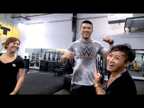 WWE's newest Chinese signees break a sweat with a grueling workout