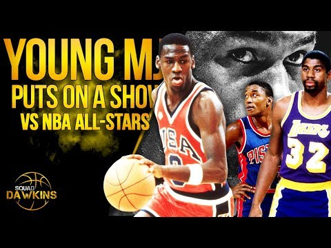 The Game Fresh Out Of College MJ OUTPLAYED Magic Johnson x NBA All Stars | SQUADawkins