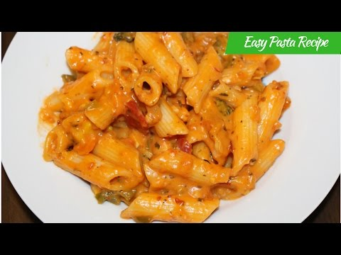 How To Make Pasta Recipes-Know The Recipe-Italian Penne Pasta Recipe With Red And White Sauce