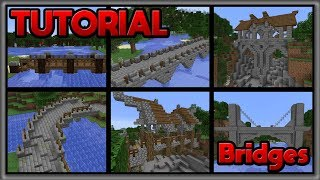 BRIDGE TUTORIAL - Minecraft - Learn how to build awesome bridges in Minecraft!!!