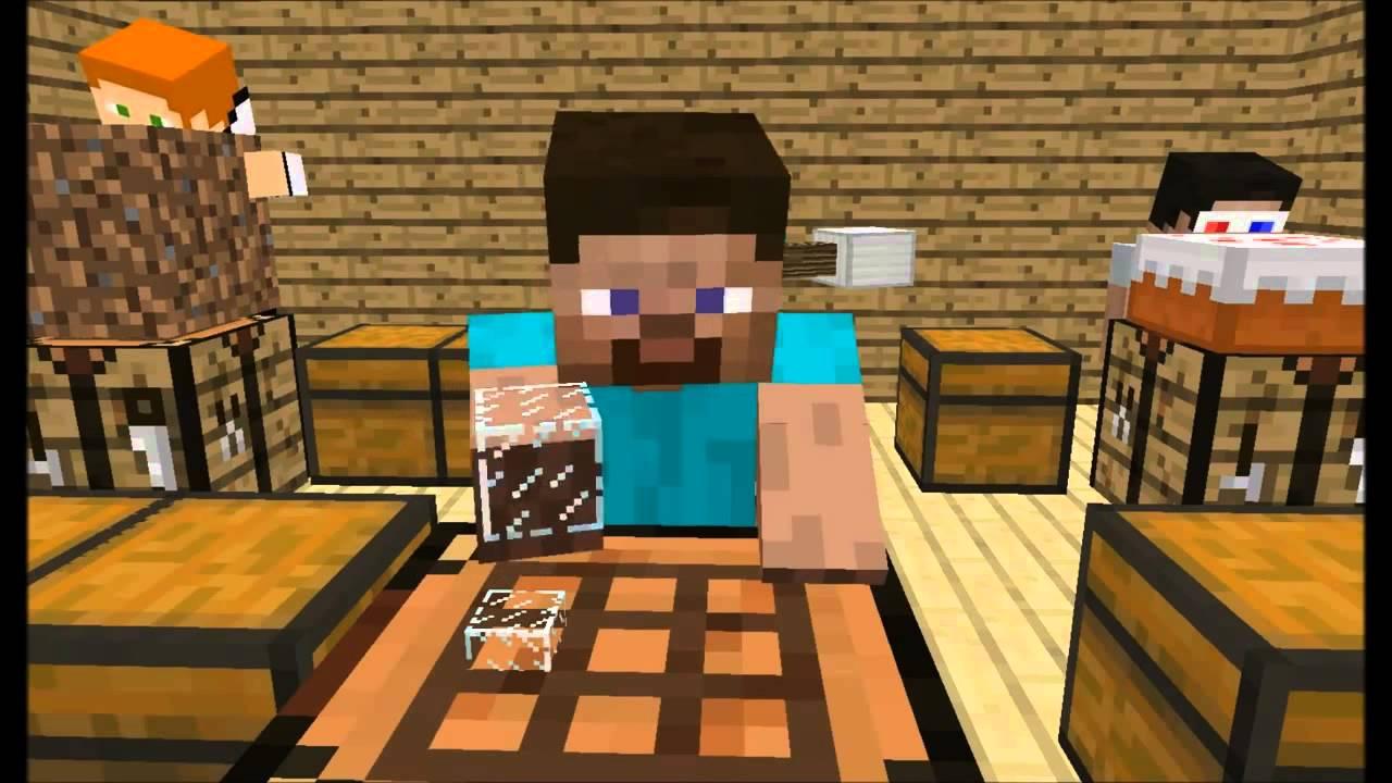 Minecraft анимация Школа игроков Эпизод 1 Crafting