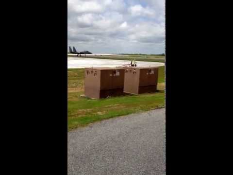 Robins airforce base in georgia U.S.A watching F-15 take off at flight line