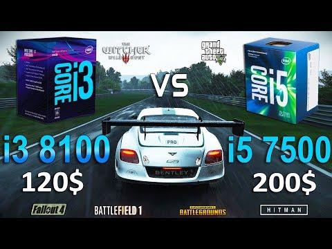 i3 8100 vs i5 7500 Test in 7 Games (GTX 1060)