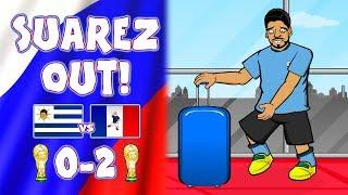 🛫SUAREZ IS GOING HOME!🛫 (Uruguay vs France 0-2 Parody Cartoon)