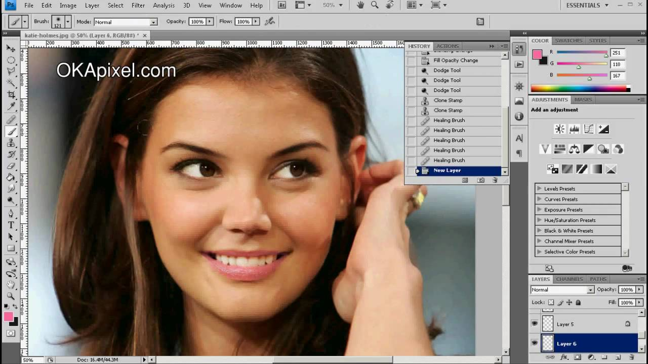 Katie holmes complete face change photoshop makeup tricks using katie holmes complete face change photoshop makeup tricks using golden ratio formula youtube ccuart Image collections