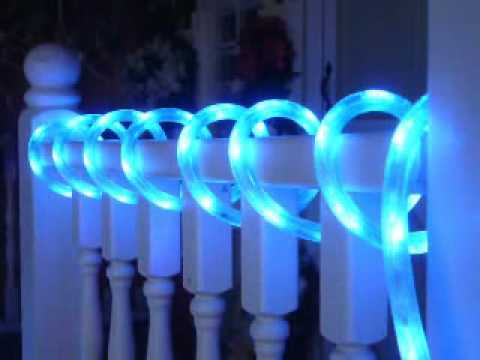 Neon blue chasing led rope light kit youtube aloadofball Choice Image